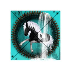 Beautiful Horse With Water Splash  Acrylic Tangram Puzzle (4  x 4 )