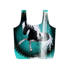 Beautiful Horse With Water Splash  Full Print Recycle Bags (s)