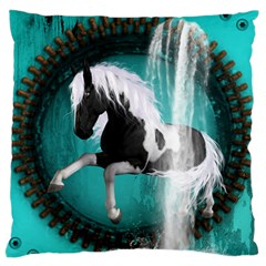 Beautiful Horse With Water Splash  Standard Flano Cushion Cases (one Side)