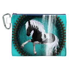 Beautiful Horse With Water Splash  Canvas Cosmetic Bag (xxl)