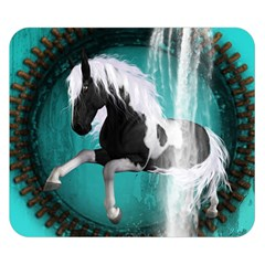 Beautiful Horse With Water Splash  Double Sided Flano Blanket (small)