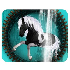 Beautiful Horse With Water Splash  Double Sided Flano Blanket (medium)