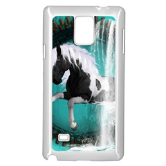 Beautiful Horse With Water Splash  Samsung Galaxy Note 4 Case (white)