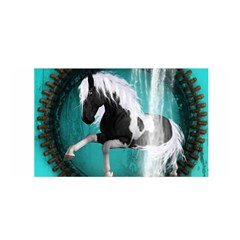 Beautiful Horse With Water Splash  Satin Wrap
