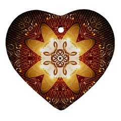 Elegant, Decorative Kaleidoskop In Gold And Red Ornament (heart)
