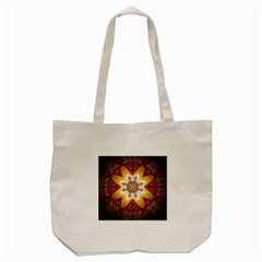 Elegant, Decorative Kaleidoskop In Gold And Red Tote Bag (Cream)