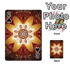 Elegant, Decorative Kaleidoskop In Gold And Red Playing Cards 54 Designs