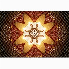 Elegant, Decorative Kaleidoskop In Gold And Red Collage 12  x 18