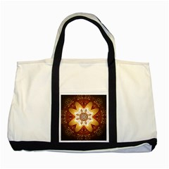 Elegant, Decorative Kaleidoskop In Gold And Red Two Tone Tote Bag