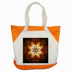 Elegant, Decorative Kaleidoskop In Gold And Red Accent Tote Bag