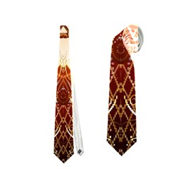 Elegant, Decorative Kaleidoskop In Gold And Red Neckties (One Side)