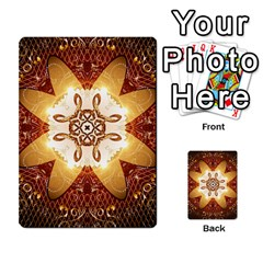 Elegant, Decorative Kaleidoskop In Gold And Red Multi Purpose Cards (rectangle)