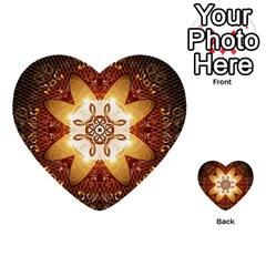 Elegant, Decorative Kaleidoskop In Gold And Red Multi-purpose Cards (Heart)