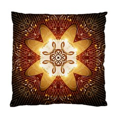 Elegant, Decorative Kaleidoskop In Gold And Red Standard Cushion Cases (two Sides)