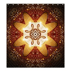 Elegant, Decorative Kaleidoskop In Gold And Red Shower Curtain 66  x 72  (Large)