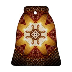 Elegant, Decorative Kaleidoskop In Gold And Red Bell Ornament (2 Sides)