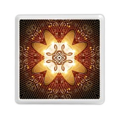 Elegant, Decorative Kaleidoskop In Gold And Red Memory Card Reader (square)