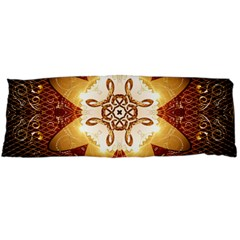 Elegant, Decorative Kaleidoskop In Gold And Red Body Pillow Cases Dakimakura (Two Sides)