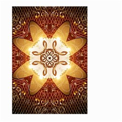 Elegant, Decorative Kaleidoskop In Gold And Red Large Garden Flag (Two Sides)