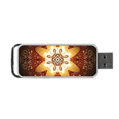 Elegant, Decorative Kaleidoskop In Gold And Red Portable USB Flash (Two Sides)