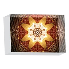 Elegant, Decorative Kaleidoskop In Gold And Red 4 x 6  Acrylic Photo Blocks