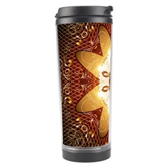 Elegant, Decorative Kaleidoskop In Gold And Red Travel Tumblers