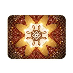 Elegant, Decorative Kaleidoskop In Gold And Red Double Sided Flano Blanket (mini)