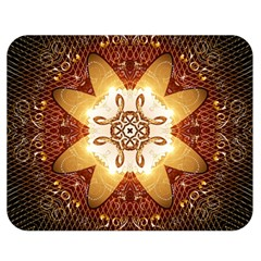 Elegant, Decorative Kaleidoskop In Gold And Red Double Sided Flano Blanket (Medium)