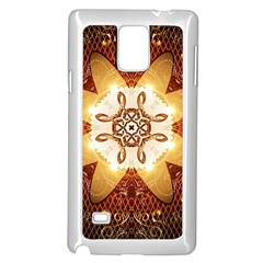 Elegant, Decorative Kaleidoskop In Gold And Red Samsung Galaxy Note 4 Case (white)
