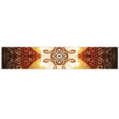 Elegant, Decorative Kaleidoskop In Gold And Red Flano Scarf (Large)