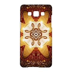Elegant, Decorative Kaleidoskop In Gold And Red Samsung Galaxy A5 Hardshell Case