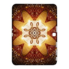 Elegant, Decorative Kaleidoskop In Gold And Red Samsung Galaxy Tab 4 (10.1 ) Hardshell Case