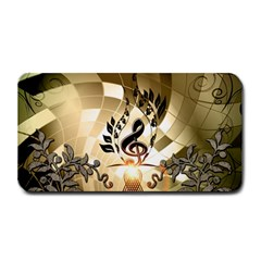 Clef With  And Floral Elements Medium Bar Mats