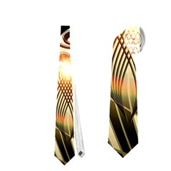 Clef With  And Floral Elements Neckties (two Side)