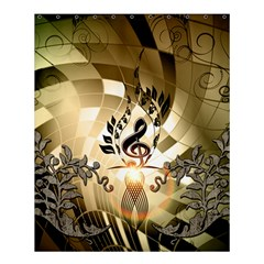 Clef With  And Floral Elements Shower Curtain 60  X 72  (medium)