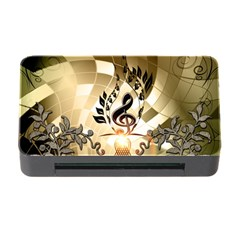 Clef With  And Floral Elements Memory Card Reader with CF