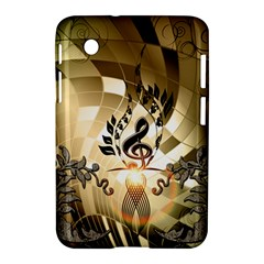 Clef With  And Floral Elements Samsung Galaxy Tab 2 (7 ) P3100 Hardshell Case