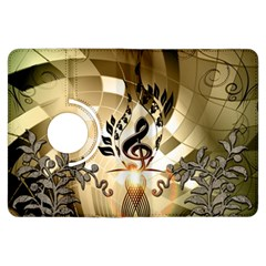 Clef With  And Floral Elements Kindle Fire Hdx Flip 360 Case