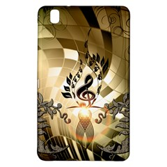 Clef With  And Floral Elements Samsung Galaxy Tab Pro 8 4 Hardshell Case