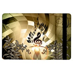 Clef With  And Floral Elements Ipad Air Flip
