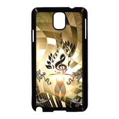 Clef With  And Floral Elements Samsung Galaxy Note 3 Neo Hardshell Case (black)
