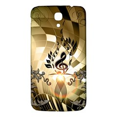 Clef With  And Floral Elements Samsung Galaxy Mega I9200 Hardshell Back Case