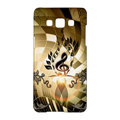 Clef With  And Floral Elements Samsung Galaxy A5 Hardshell Case