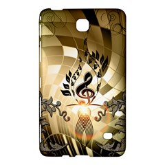 Clef With  And Floral Elements Samsung Galaxy Tab 4 (8 ) Hardshell Case