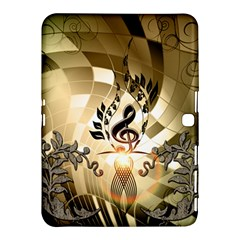 Clef With  And Floral Elements Samsung Galaxy Tab 4 (10 1 ) Hardshell Case