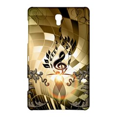 Clef With  And Floral Elements Samsung Galaxy Tab S (8 4 ) Hardshell Case