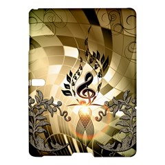 Clef With  And Floral Elements Samsung Galaxy Tab S (10.5 ) Hardshell Case