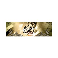 Clef With  And Floral Elements Satin Scarf (Oblong)