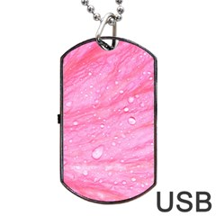 Pink Dog Tag USB Flash (Two Sides)