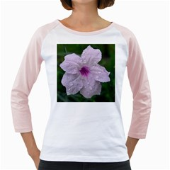 Pink Purple Flowers Girly Raglans